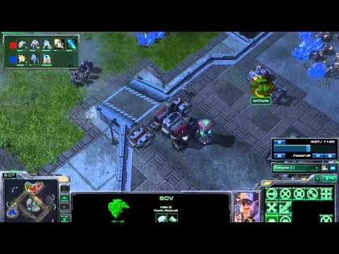 Get out of Lower League, 3 Barracks 9 Minute Push SC2 Tutorial