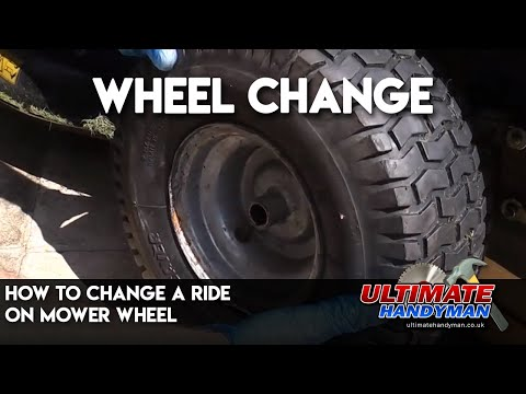 How to change a ride on mower wheel