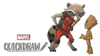 Watch Rocket & Baby Groot come to life - Marvel Quickdraw
