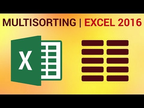 How to Sort by Multiple Columns (Multisorting) in Excel 2016