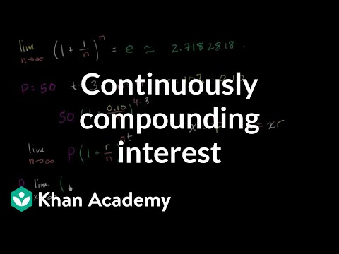 Formula for continuously compounding interest | Finance & Capital Markets | Khan Academy