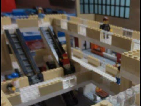 LEGO Shopping MALL! 50,000 pcs, 56 SHOPS, 3 STORIES, 10 Ft LONG!