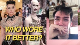 james charles got DRAGGED for his Met Gala look