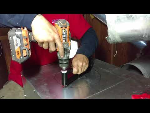 Sheet metal hole cutter.