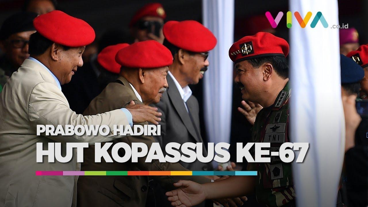Pakai Baret Merah, Prabowo 'Dikepung' Kopassus