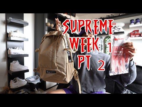 Supreme Week 1 (Tan Backpack Review + Work Gloves) SS18 Pt. 2