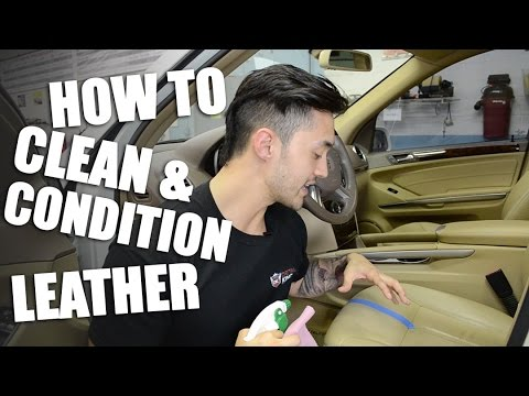 How to Clean and Condition your Car Leather