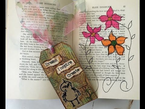 Tags Using Recycled materials, Vintage Look for Altered Journals