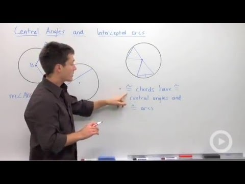 Central Angles and Intercepted Arcs