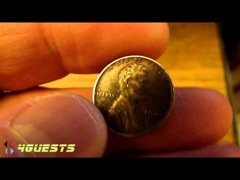 1944 Lincoln Penny (Copper, not Steel) One Cent Coin