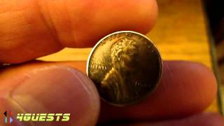 1944 Lincoln Penny Copper Not Steel One Cent Coin