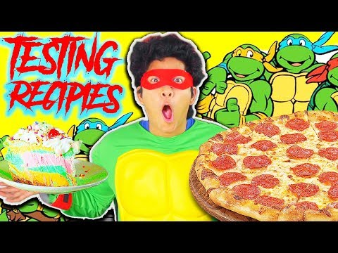 3 Teenage Mutant Ninja Turtle Recipes!!! Taste Test!