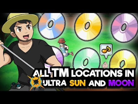 ALL TM LOCATIONS In POKEMON ULTRA SUN AND MOON! Where to Find all Technical Machines (TMs)
