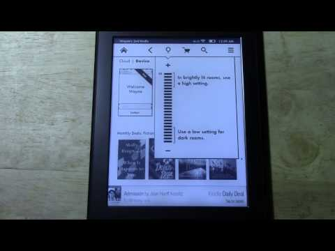 Kindle Paperwhite - How to Turn the Backlight On & Off​​​ | H2TechVideos​​​