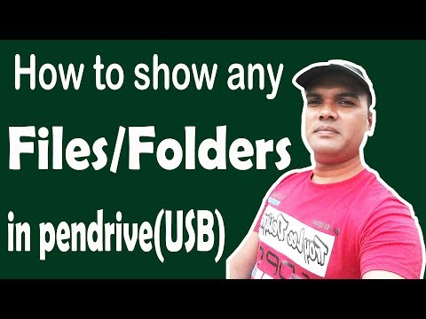 How to showing hidden files & Folders in pen drive [USB] without any software