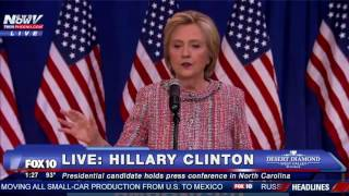 Fnn Hillary Clinton Holds Post Pneumonia Press Conference