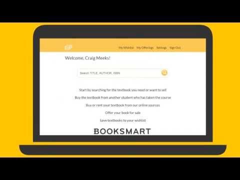 Booksmart Website: Save money and make money on college textbooks