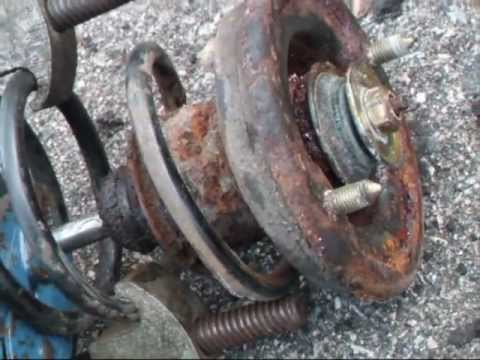 2001 MITSUBISHI GALANT GLX SE 2000CC  REAR SHOCK ABSORBER RE.wmv