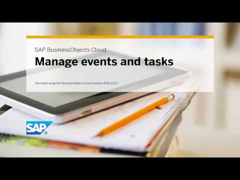 Manage events and tasks: SAP BusinessObjects Cloud (2016.22.0)