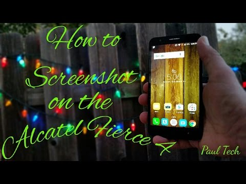 Alcatel Fierce 4 how to take a screenshot the 2 different ways.