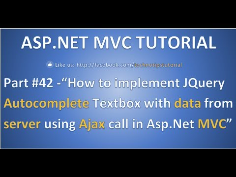 Part 42 - Implement Jquery Autocomplete Textbox  with data from Server using ajax in ASP.NET MVC