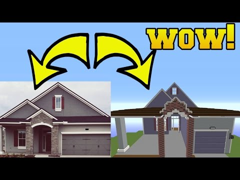 REAL LIFE HOUSE IN MINECRAFT!!!!!!