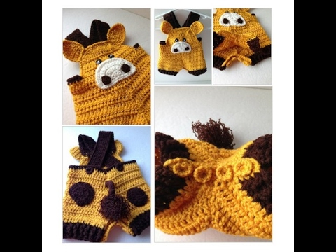 Baby Giraffe Romper - Baby Overalls - Animal Bodysuit -