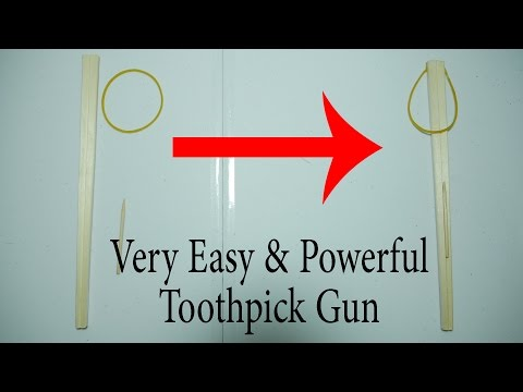 How to make a Easy & Powerful Toothpick Gun with Chopstick