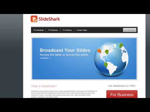 Showing a PowerPoint on your iPhone/iPad with Slideshark