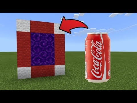 How To Make a Portal to the Cola Dimension in MCPE (Minecraft PE)