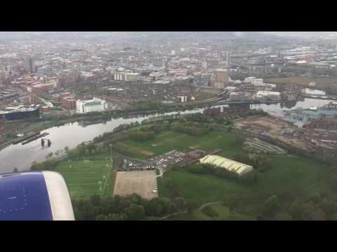 Landing @ George Best Belfast City Airport