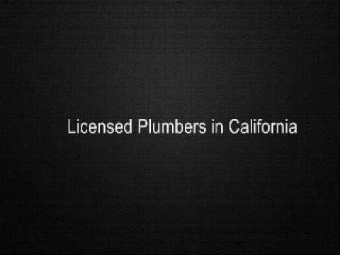 Licensed Plumbers in California