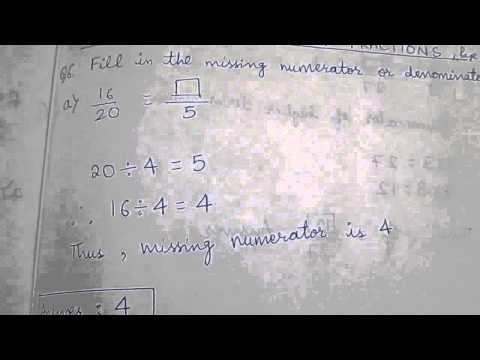 Class four unit fractions - finding missing numerator or denominator