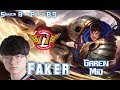 SKT T1 Faker GAREN vs ZOE Mid - Patch 8.9 KR Ranked