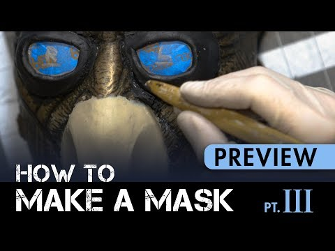 How to Make a Mask Part 3 - Sculpting Goggles & Mouthpiece - PREVIEW