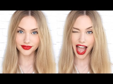 Everyday Casual Red Lip Makeup Tutorial  ♥ stephaniemaii ♥