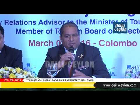 TOURISM MALAYSIA LEADS SALES MISSION TO SRI LANKA