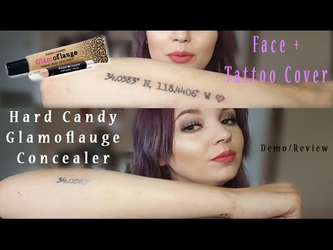 Glamoflauge Concealer & Tattoo Cover Demo + Review (Hard Candy)