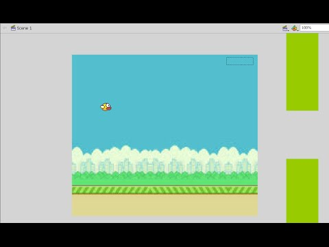 How to make a game like FLAPPY BIRD in flash (AS3)