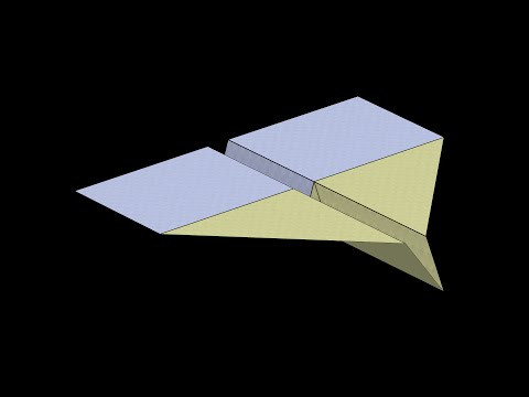 Simple Paper Airplane: 3D Folding
