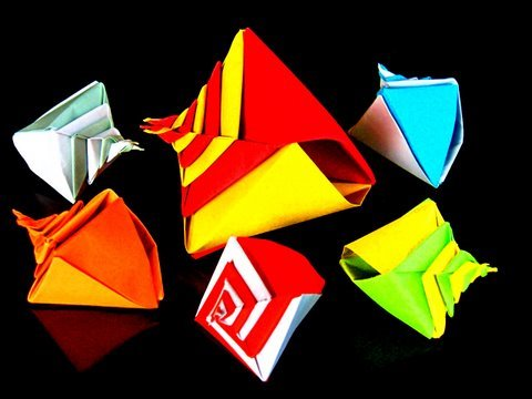 How to make a Modular Origami Snail Shell
