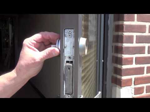 How to Replace a Commercial Storefront Keyed Cylinder with a Thumbturn
