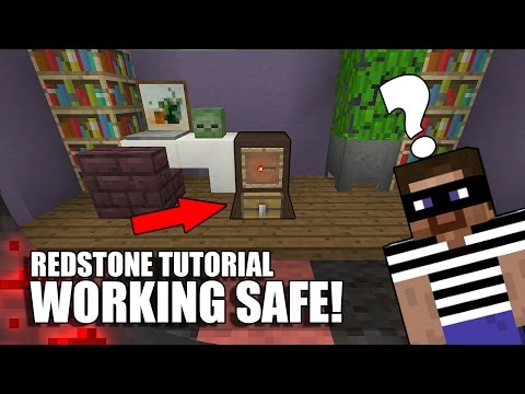 How To Build A Working Safe In Minecraft!