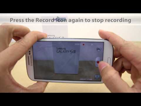 How to Record a Video on Samsung Galaxy S3 (aka S III S 3)