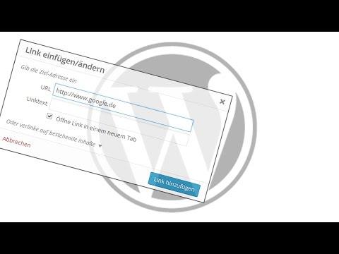 WordPreess Link / Verlinkung hinzufügen (auch E-Mail Link) - Anfänger