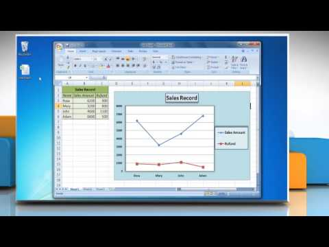 How to Data Labels in a Line Graph in Excel 2007