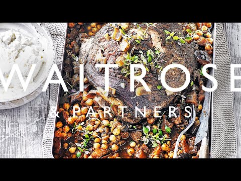 Slow-cooked Lamb with Harissa Chickpeas and Feta Yogurt | Waitrose