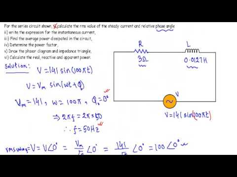 AC Circuit Example 2: RL Series Circuit