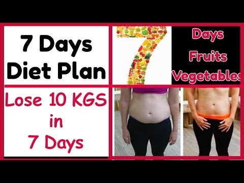 LOSE 10KG IN 7 DAYS Without Exercise | 7 DAYS WEIGHT LOSS CHALLENGE |DIET PLAN To Lose Weight FAST