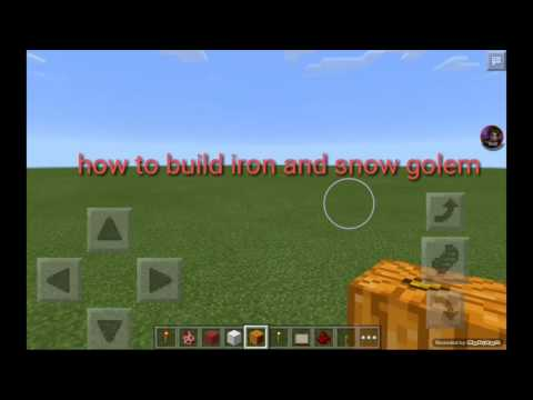 How to build iron and snow golem
